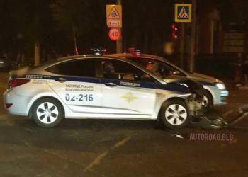 Автомобиль полиции попал в ДТП в Благовещенске