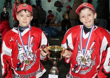 Юные хоккеисты в Свободном разыграли кубок «Союза» (фото)