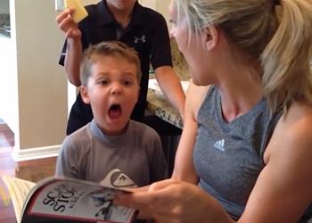Страшная сказка едва не оставила ребенка заикой (видео)