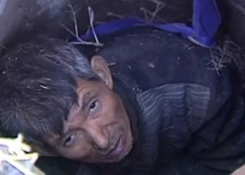 Пожилой китаец три дня просидел в колодце (видео)